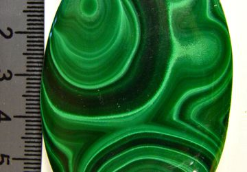 A big malachite cabochon
