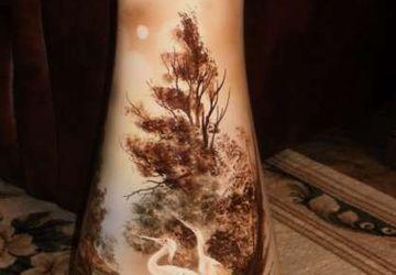 """A floor standing vase """"Woods"""""""