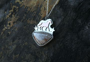 """The """"Montana is for Horses"""" pendant"""