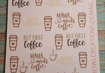 but first coffee stickers