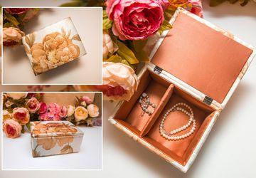 "Handmade casket N0054 ""Warm Shades"""