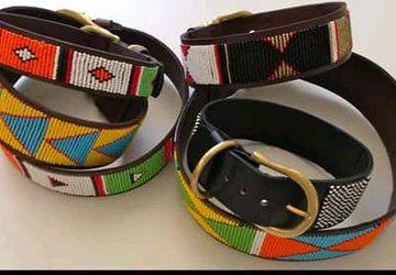 African masai dog collar-Ethical dog collar-Tribal collar-Sustainable dog collar-pet collar-personalized dog collar-puppy collar-kenyan beads-puppy collar- gift for dog