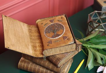 Handmade Suede Celtic Notebook