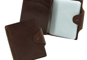 Leather cardholder Cangurione 3181-004 V/Tan
