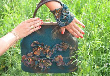 A milled handbag + a wrist cuff