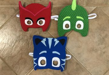 Felt PJ Masks Inspired Masks