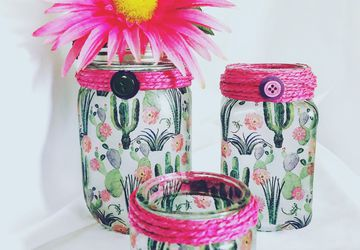 Cactus Trio Mason Jar Set