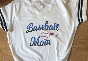 Baseball Mom Printed T-Shirt