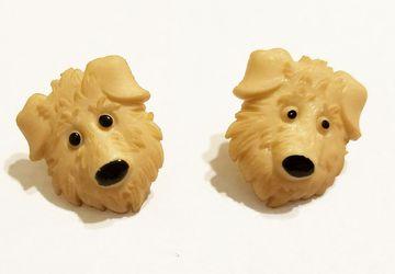 Cute Brown Dog Post Earrings #18