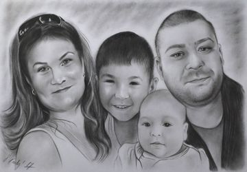 Custom family portrait from photo