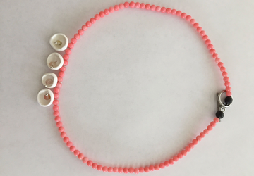minimalist Coral stones beads, hand sculpted clay n.004
