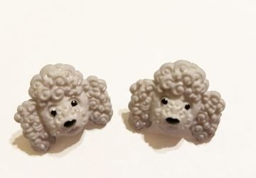 Poodle Post Earrings #17
