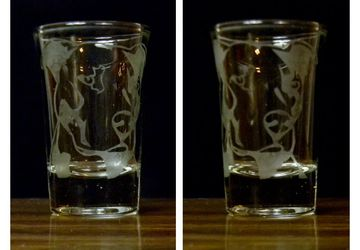 1.5 ounce etched Dog Breeds Shot Glass