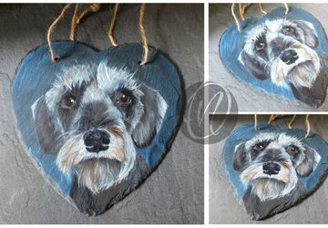 Slate Pet Portraits - dog / cat