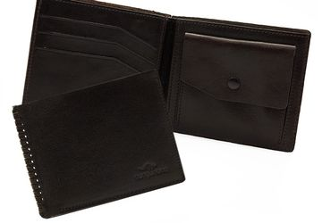Leather wallet Cangurione 1113-002 V Brown