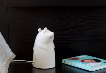 Mousekin felt lamp