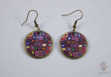 Gustav Klimt Round Earrings - BCDK-0-41