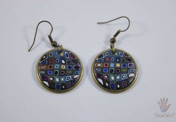 Gustav Klimt Round Earrings - BCDK-0-44