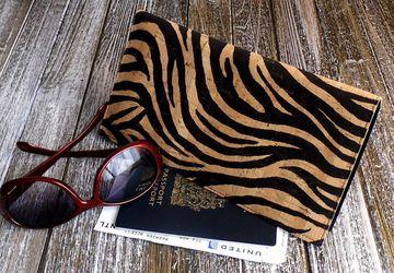 Zebra Cork Travel Wallet