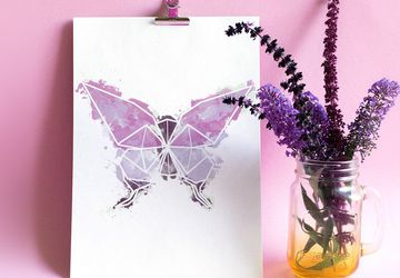 Butterfly print, watercolor butterfly