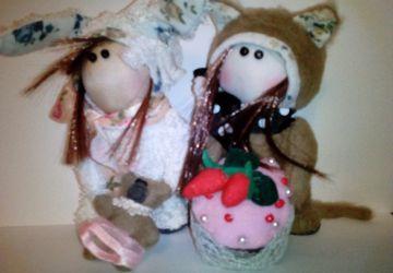 """2 handmade toys """"Bunnies"""""""