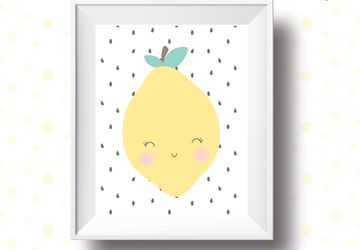 Lemon , print,children wall art