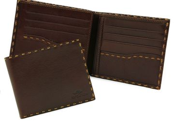 Leather wallet  Cangurione 1128-004 V Tan