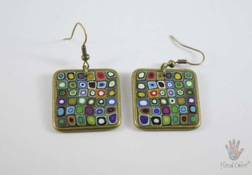Gustav Klimt Squared Earrings - BQDK-0-43