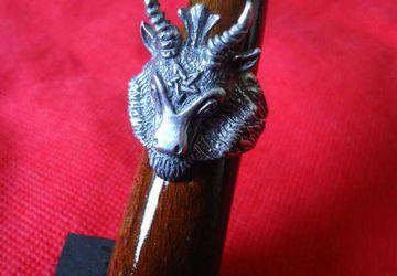 Silver Baphomet Goat Head Ring - Satanist Ring - Devil Jewelry - Devil Ring - Satanic Ring - Black Metal Ring - Vampire Ring - Goat Ring