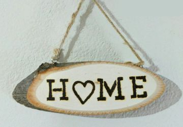Woodburned Home Sign