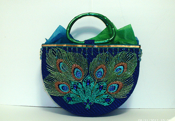 Unique and Exotic Royal Blue Peacock Tote bag