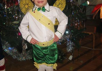 Elf prince Christmas costume from the Thumbelina fairy tale