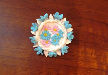 """Wild flowers"" brooch"