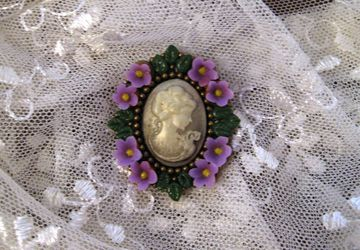 """Lady""  brooch"