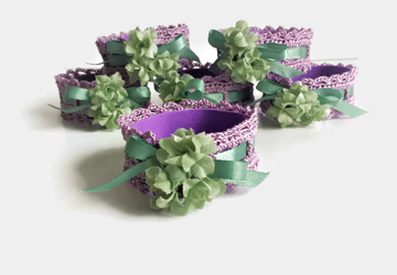 Purple Napkin Ring Set