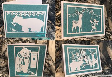 Bird and Bear's A6 Christmas Cards with envelopes