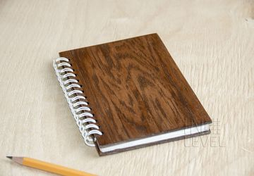 Notepad with wooden cover