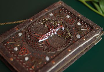 Handmade Real Leather Celtic Notebook