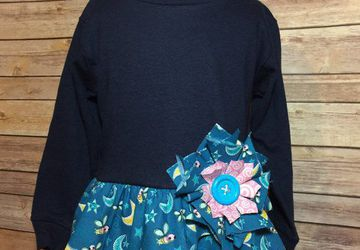3 Toddler Girls Tunic. Upcycled T-Shirt with Free Shipping