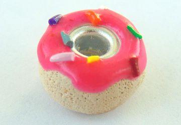 Pink Donut Charm Bracelet Bead