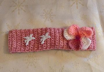 pretty crochet head band