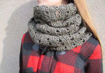 Fall / winter handmade crochet infinity scarf
