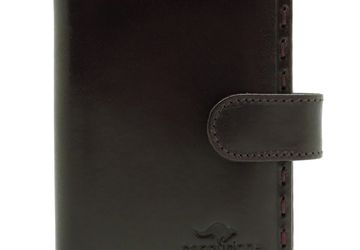 Leather cardholder Cangurione 3302-002 V/Brown
