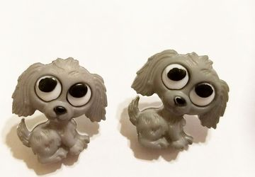 Cut Gray Puppy Dog Earrings #14