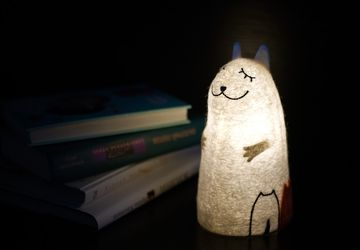 "Felt lamp ""Cat with Kittens"""