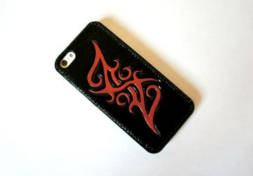 A phone leather case (red)