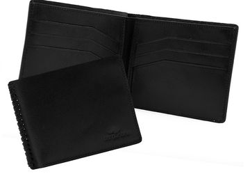Leather wallet Cangurione 1141-001 V Black