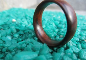 Ebony Wood Ring Unisex Wood Ring -Free shipping-