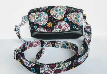 Sugar Skull purse with vegan leather