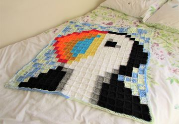 Percival the Puffin Blanket